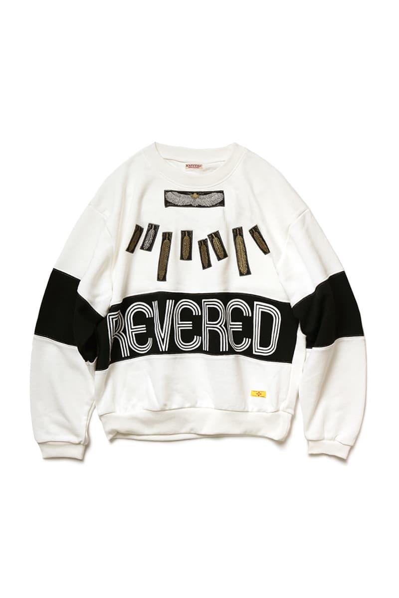 KAPITAL ECO Fleece Feather Jewel 2TONE Sweaters crewnecks sweatshirts kountry eagle feathers gold embroidery japanese fashion streetwear