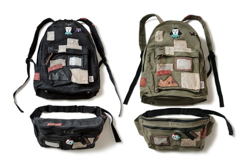 KAPITAL Drops Patched-Up Two-In-One Military Rucksack
