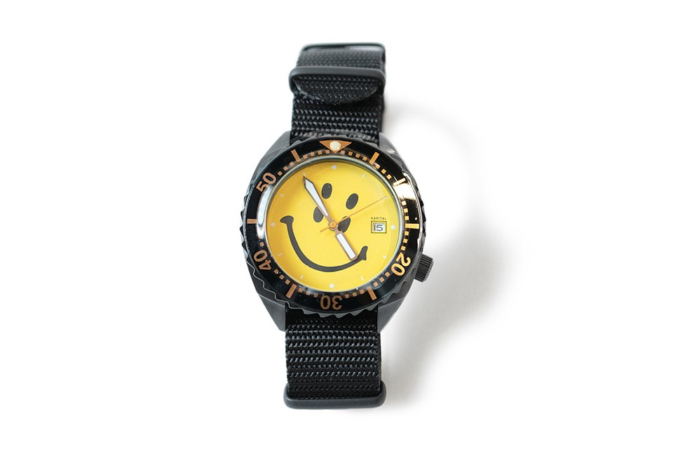 KAPITAL Releases a Duo of Nato Strap Smiley Face Watches