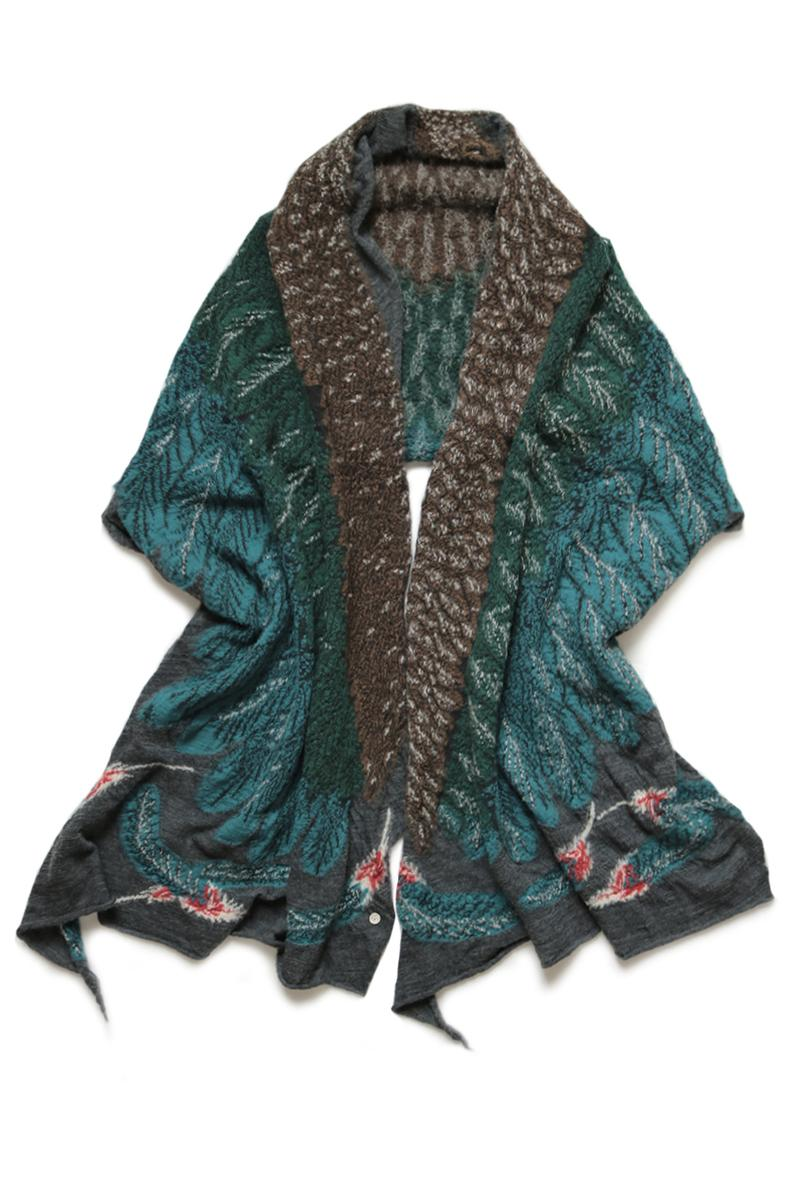KAPITAL Wool Otsuki Muffler Eagle feather scarf blanket warm fall winter 2019 collection japanese woven detailed artwork wings spread eagle