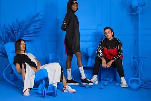 Karl Lagerfeld & PUMA Drop Four Clean Sneakers & Bold FW19 Apparel