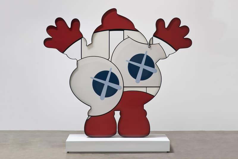kaws he eats alone exhibition doha fire station museum qatar artworks paintings companion sculptures