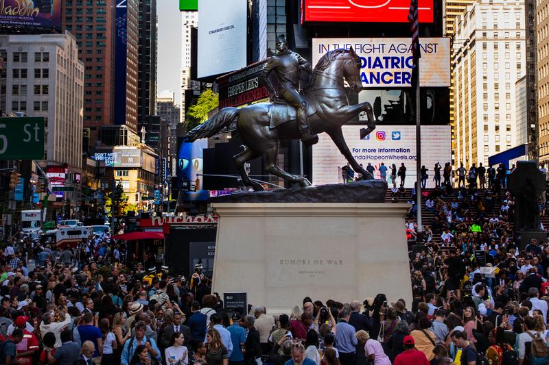 kehinde wiley times square public sculpture confederate monuments rumors of war