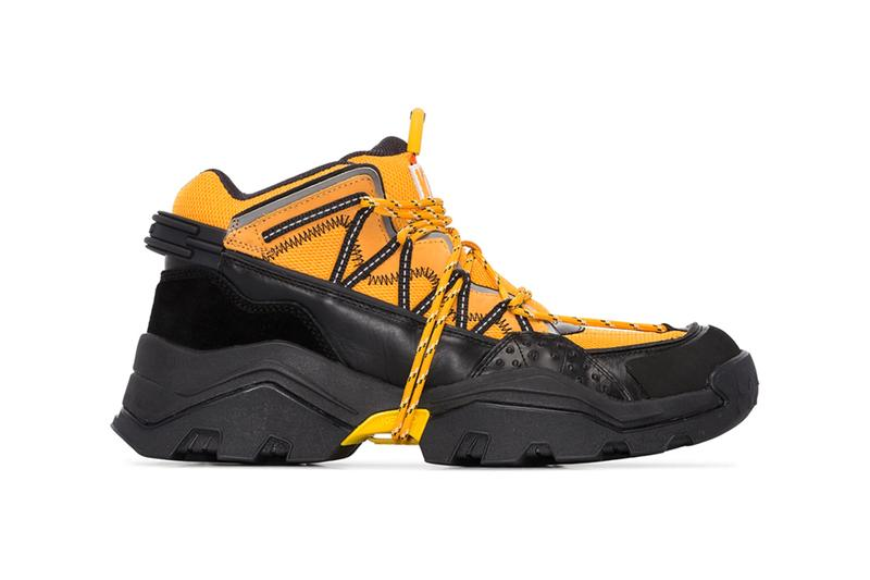 kenzo inka multicolored sneakers purple yellow orange black colorway release fall october 2019 leather overlays lace up front rope ties reflective details