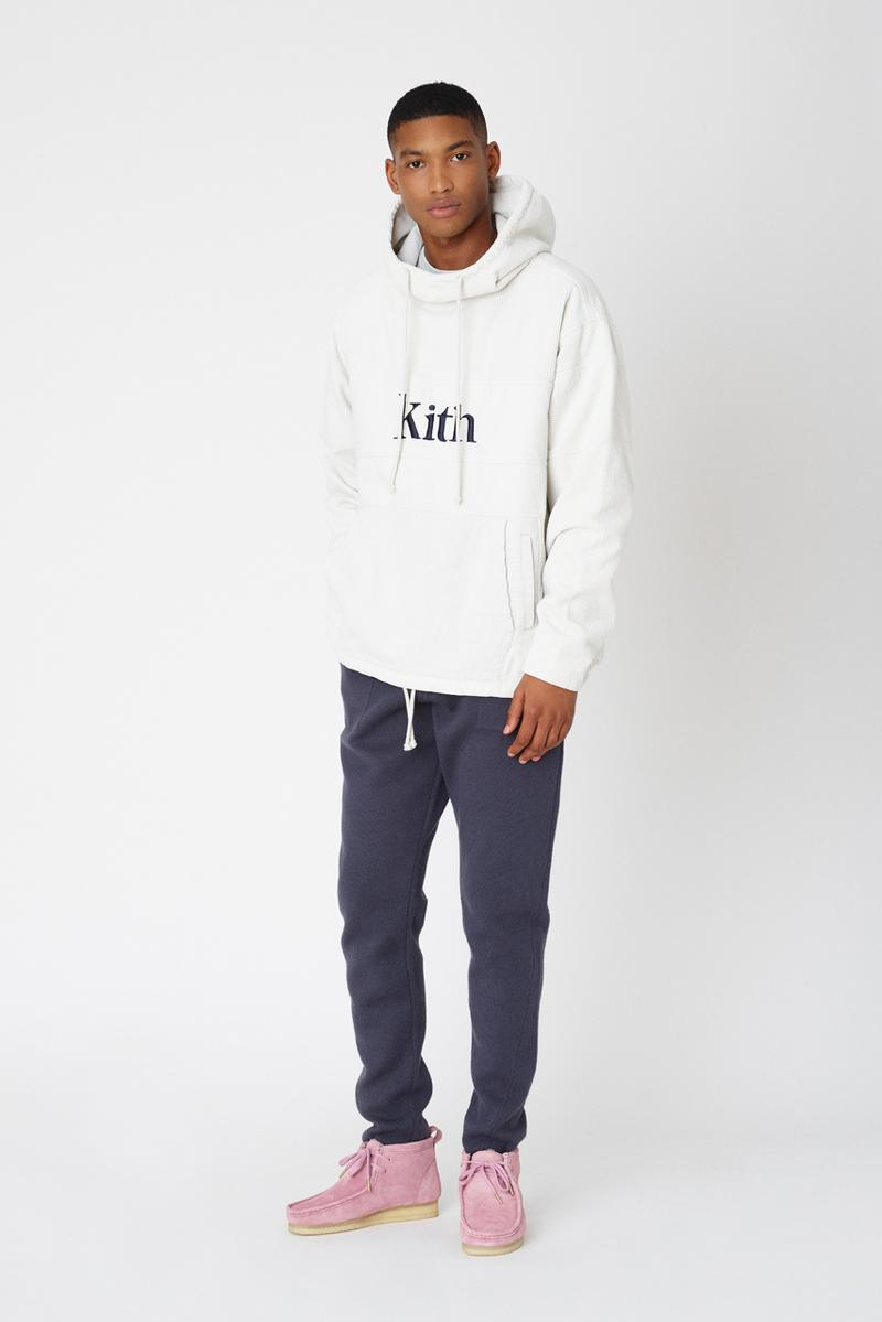 kith fall 2 collection lookbook delivery release date clarks collaboration mercer pant kimono blazer jacket combo knit adam sweatshirts ryan cable knit sweater snow wash corduroy double pocket hoodie laight jacket