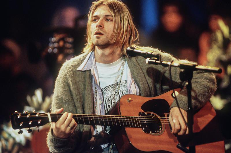 Kurt Cobain Fender Guitar MTV Unplugged Cardigan Auction