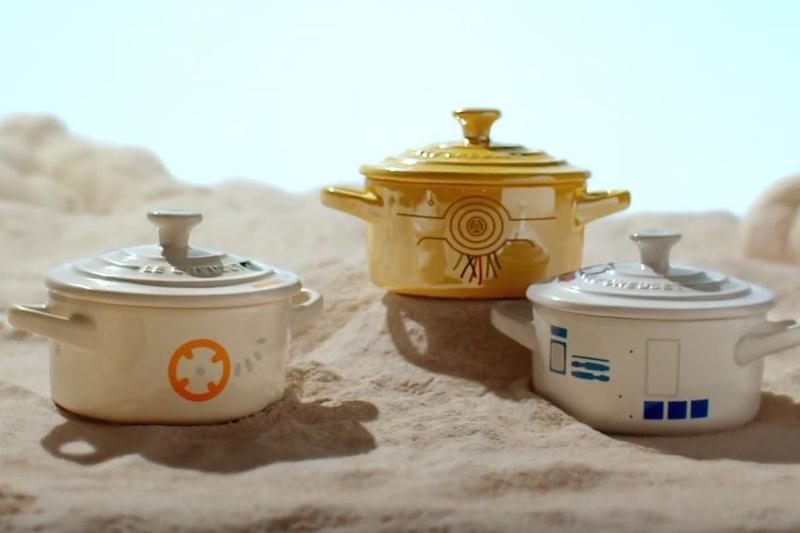Le Creuset Star Wars Cookware Collection Dutch Oven trivet mat pie bird roaster han solo info details pics pic picture pictures death star Millennium Falcon cocotte tatooine williams sonoma buy purchase cost retail where 2019