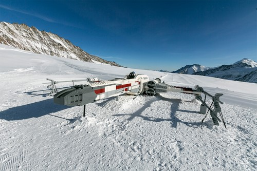 LEGO Lands a Life-Sized 'Star Wars' X-Wing on a Swiss Mountain
