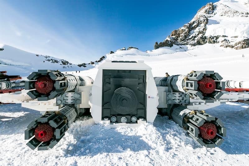 LEGO Life Sized X Wing Switzerland Installation 2 5 million bricks toys replica star wars