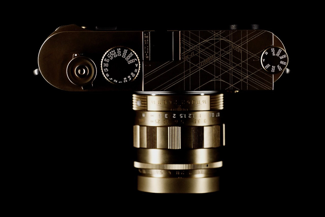 Leica M10-P SC Asset 17 Year Anniversary Release pure brass finish quiet shutter limited edition 30 units three inch touchscreen LCD low noise levels top drawings 24-megapixel full frame CMONS sensor rangefinder camera charcoal green leather