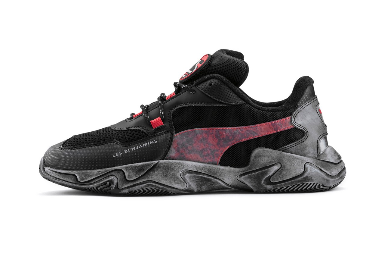 LES BENJAMINS Puma Hiking Collection Release Date cell alien rs-x mid thunder disc blaze storm sneakers footwear black red white blue grey