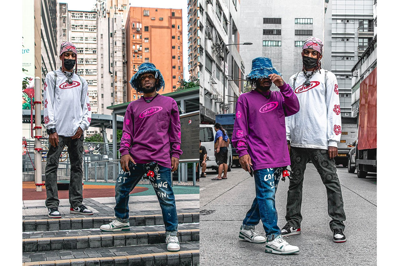 Streetsnaps MadeinTYO DJ Jehmahk Hong Kong China Gluestick Akita Allstars Chanel Comme Des Garcons Jordan Brand 1 Air Salute EVAE Necklace interview style