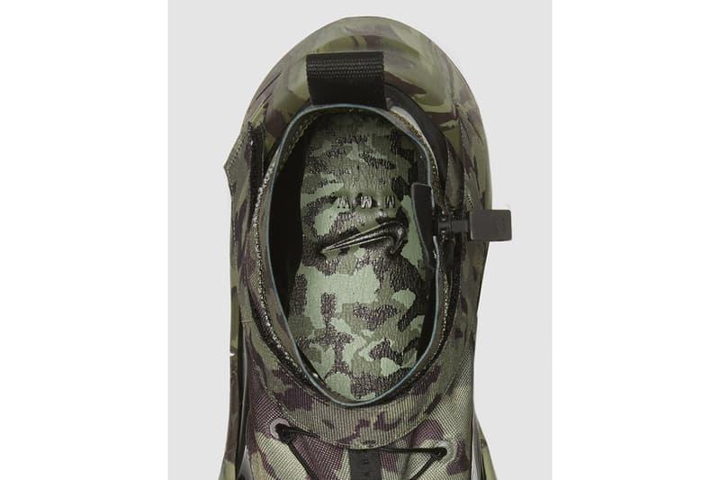 "Matthew M. Williams x Nike Free TR 3 ""Camo Green/Black"" Limited Edition Sneaker Release Information 1017 ALYX 9SM Exclusive Vibram Crampon"
