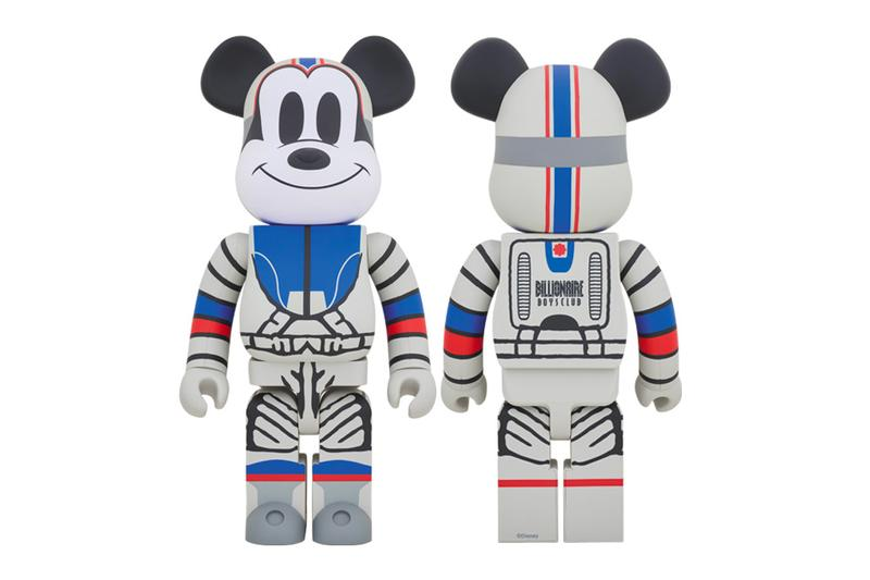 BILLIONAIRE BOYS CLUB Medicom Toy Plus Astronaut Mickey Mouse space retro pharrell williams figures accessories collectibles hand drawn toys toymaker japanese