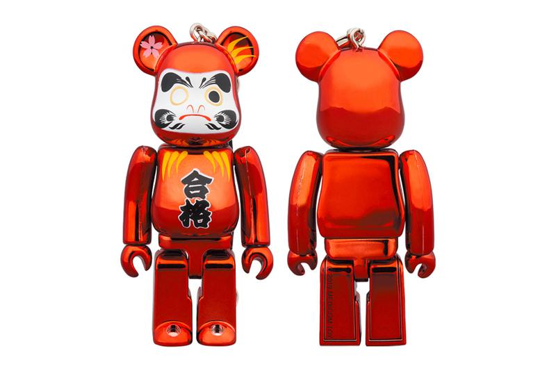 Medicom Toy BEARBRICK Daruma 400 100 skytree soramichi store figures toys novelties collectibles glossy plating GOUKAKU traditional japanese motif