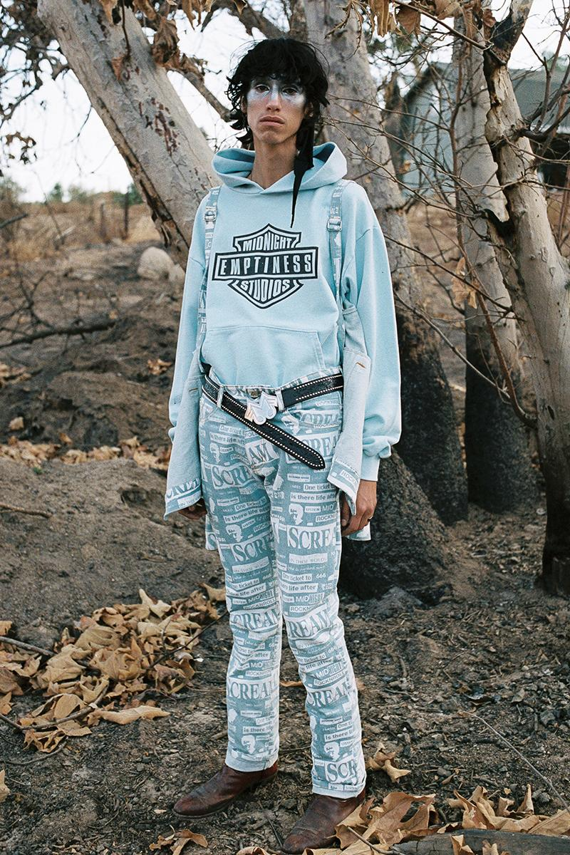 Midnight Studios Fall Winter 2019 Collection Lookbook Shane Gonzales Jacket Hoodie T shirt Jeans Accessories