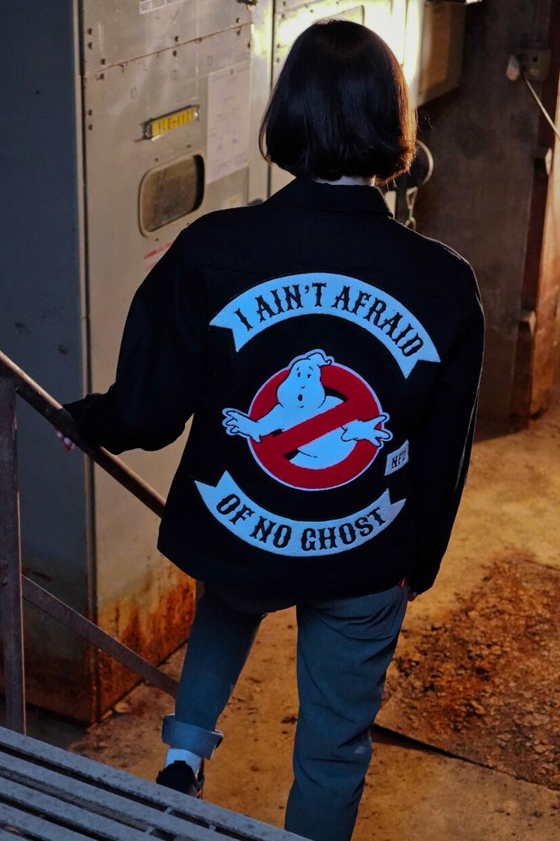 Naked & Famous Ghostbusters Capsule Collection Jeans Jacket Black