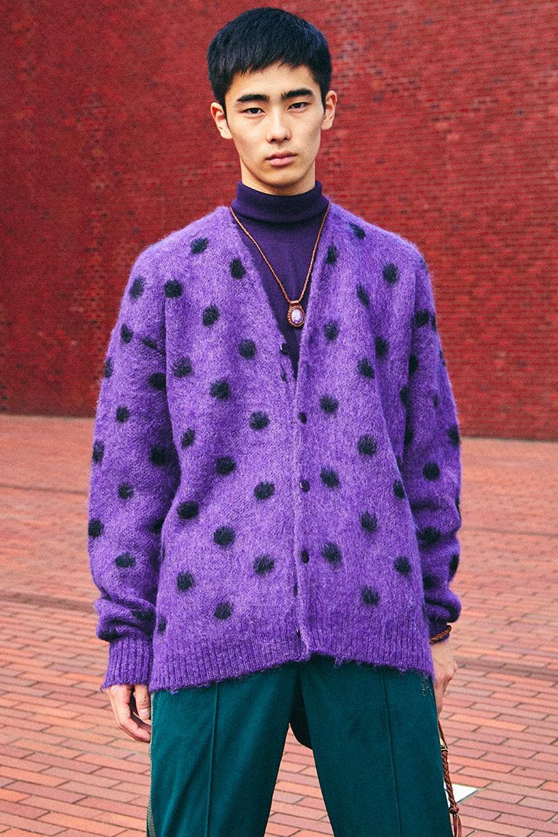 NEEDLES Fall Winter 2019 Neo Tora Editorial Mohair cardigans keizo shimizu nepenthes vintage retro butterfly motif layers japanese