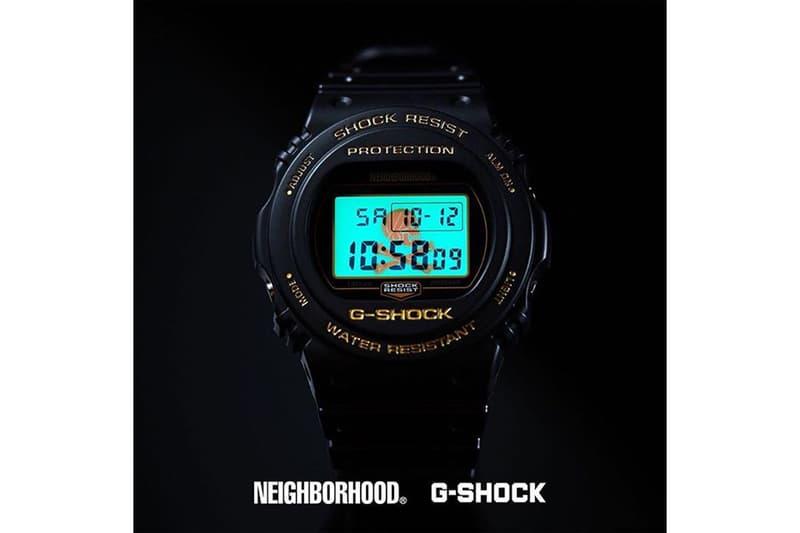 NEIGHBORHOOD Casio G-SHOCK DW-5750 Teaser Shinsuke Takizawa Release info Date