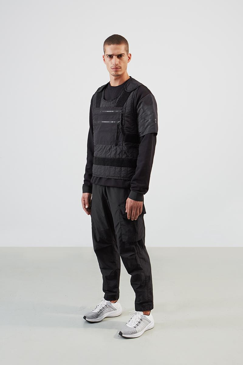 NemeN Fall/Winter 2019 Collection Lookbook First Look Garments Release Information Technical Italian Brand Innovative Research Utility Designs Outerwear Woven Jacquard Polyester Fabric With Augmented Reality Graphic SEVER AR
