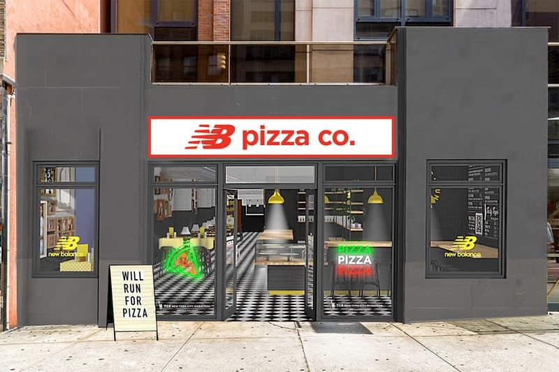 New Balance NB Pizza Co. Pizzeria NYC Slice Miles Running Runners Marathon Training Food Exclusive Drop Pop-up Activation Marketing Reward