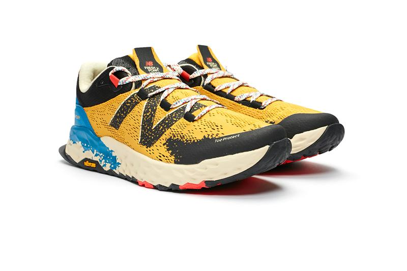 """New Balance Trail Hierro V5 """"Yellow"""" Release Information Sneakersnstuff Launch Hiking Sneaker Trainer Synthetic Mesh Upper Fresh Foam Vibram Sole Unit Toe Protect"""