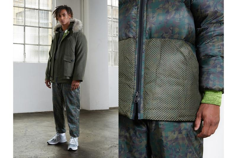 N.HOOLYWOOD  Woolrich FW19 Capsule Collection Bomber Jackets Puffy Down Vests Shirts Vintage Checkered Camouflage Chief Petty Officer Shirt Green Blue