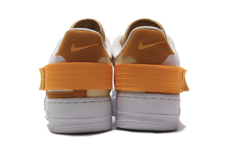 "Nike AF1-TYPE Low ""White/University Gold"" Air Force 1 Prototype Design Reworked Minimalist Sneaker Footwear Design Release Information First Look"