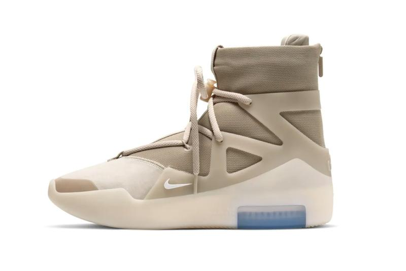 "Nike Air Fear of God 1 ""Oatmeal"" official look release information Jerry Lorenzo Leo Chang basketball fashion military collaborations"