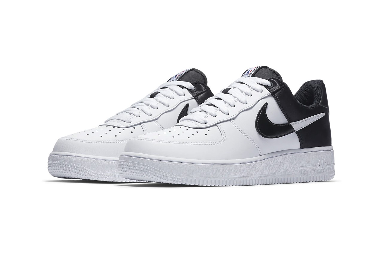 nike air force black white