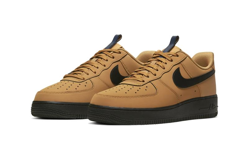 Nike Air Force 1 Wheat Black Midnight navy BQ4326 700 Air Max 90 Cosmic Clay AJ1285 700 footwear shoes sneakers swoosh brown hazel beige