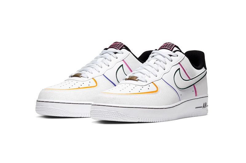 nike air force 1 low day of the dead halloween skulls white black red pink blue