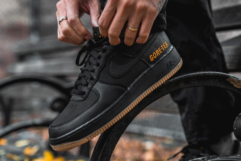Nike Air Force 1 Low High GORE TEX Closer Look Black White Release Info Date Buy Black White CK2630-200 Medium Olive Sequoia Gold Phantom