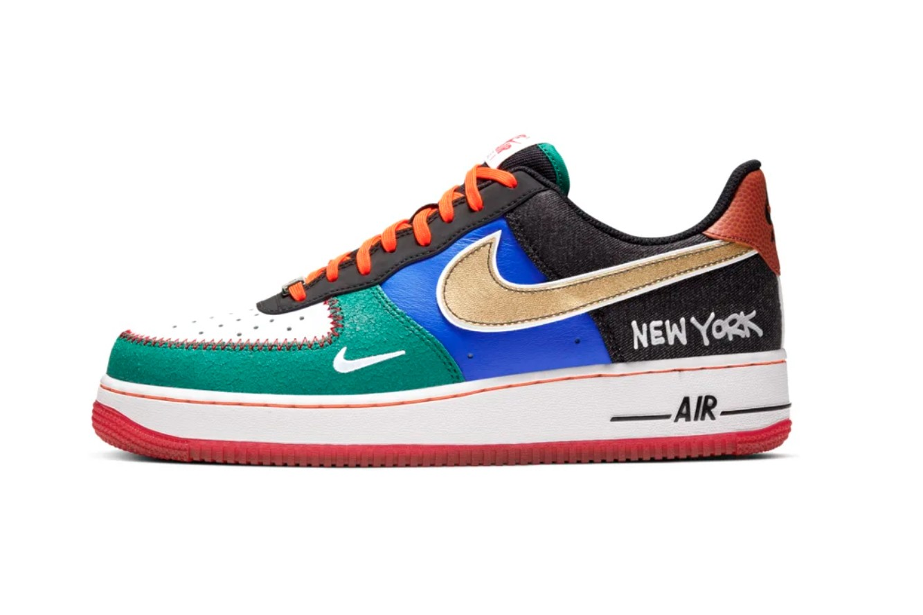 Best Sneaker Release: October 2019 Week 3 nike what the air force 1 premium low new york city knicks jets nets red bulls basketball statue of liberty