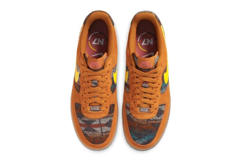 Nike Air Force 1 N7 Pendleton Official Look CQ7308-700 Brown Yellow Blanket