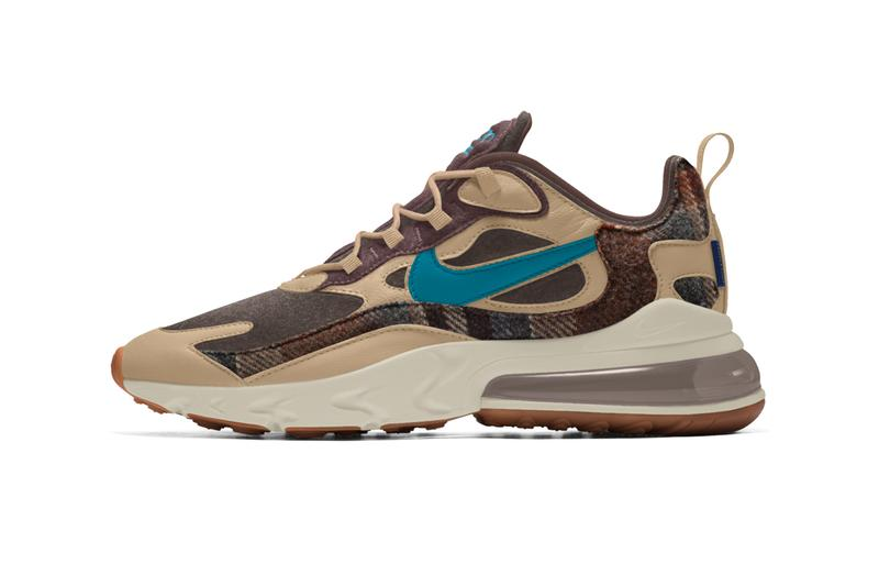 Nike Air Force 1 Low Pendleton By You react element 55 air max 90 air max 270 react shoes footwear sneakers wool fabrics customize