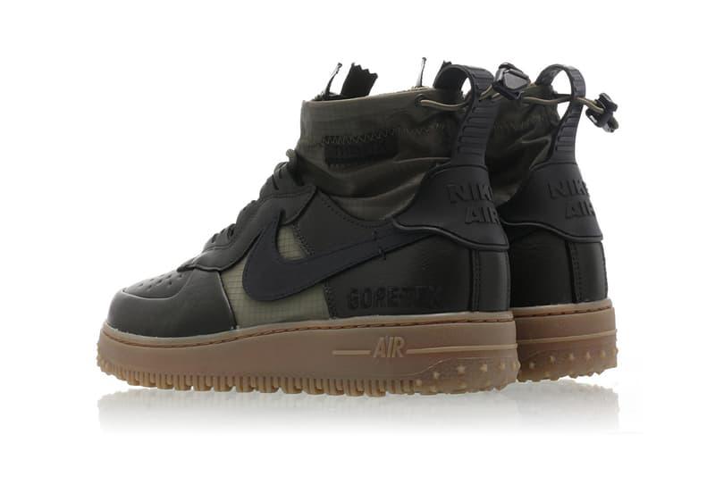 Nike Air Force 1 WTR GRX Sneaker Boot Release Information Weatherproof GORE-TEX cq7211-300 Sequoia/Black-Medium Olive-Gum Med Brown