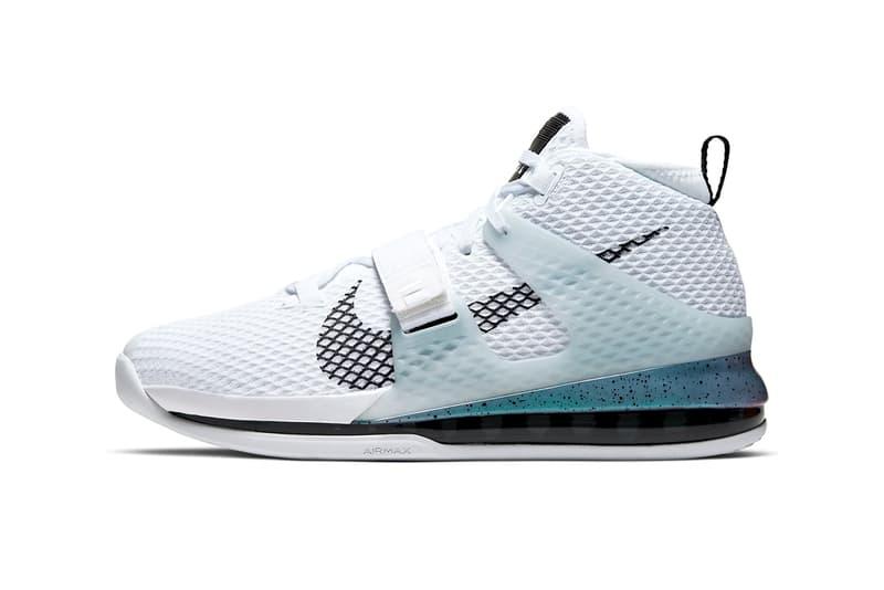 Nike Air Force Max II White/Black AV6243-100 Basketball sneaker ice blue swoosh