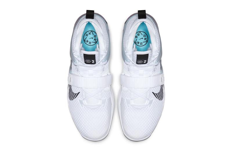 Nike Air Force Max II White/Black AV6243-100 Basketball sneaker ice blue swoosh