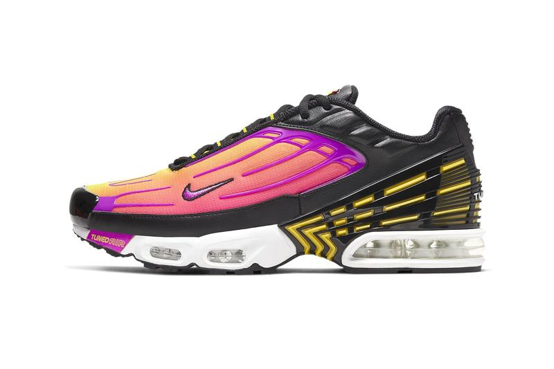 Nike Air Max Plus 3 Dynamic Yellow Hyper Violet sneakers shoes footwear runners trainers tuned air technology CJ9684 003 Pink Blast black