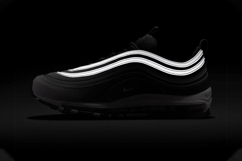 "Nike Air Max 97 ""Black/Black/Reflect Silver/White"" Fading Colorway Transition Fade 3M Detailing Reflective Sneaker Release Information Cop First Look Fall Winter 2019 FW19 Swoosh"