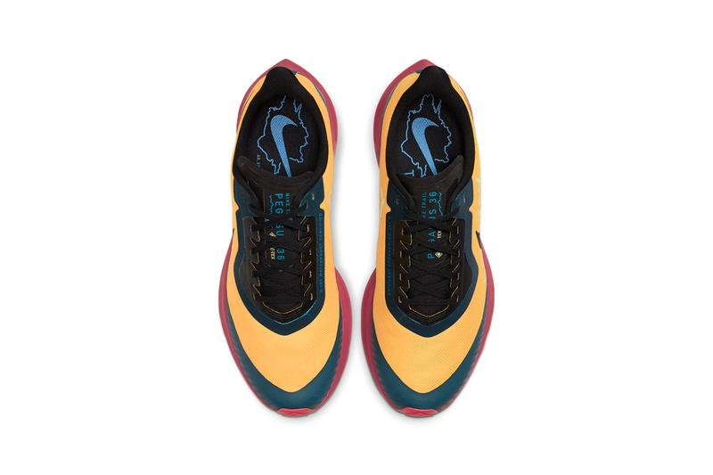 nike air zoom pegasus 36 trail CT9137 700 University Gold Noble Red Midnight Turquoise Black