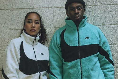 Nike Preps for Winter With the Reversible Big Swoosh Boa Jacket