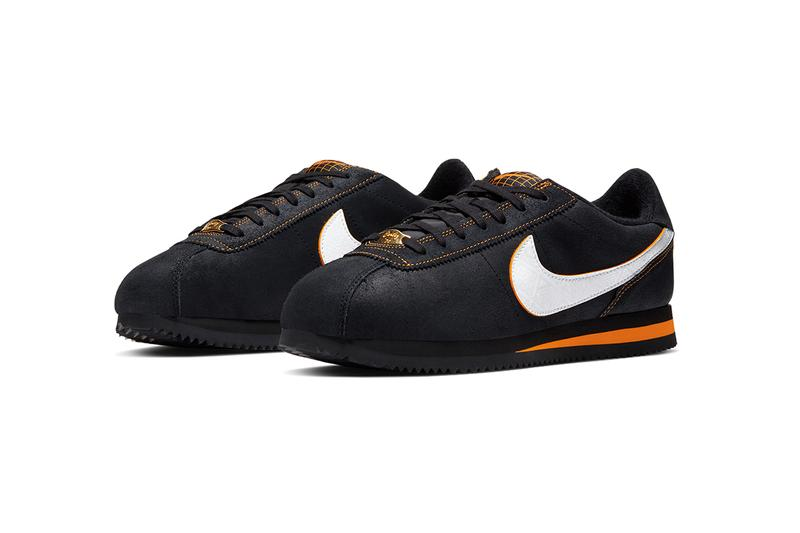 "Nike Cortez Basic Leather SE ""Day of the Dead"" Release Information Halloween Special Edition Limited Black White University Red Patterns Día de Muertos Skull Design"