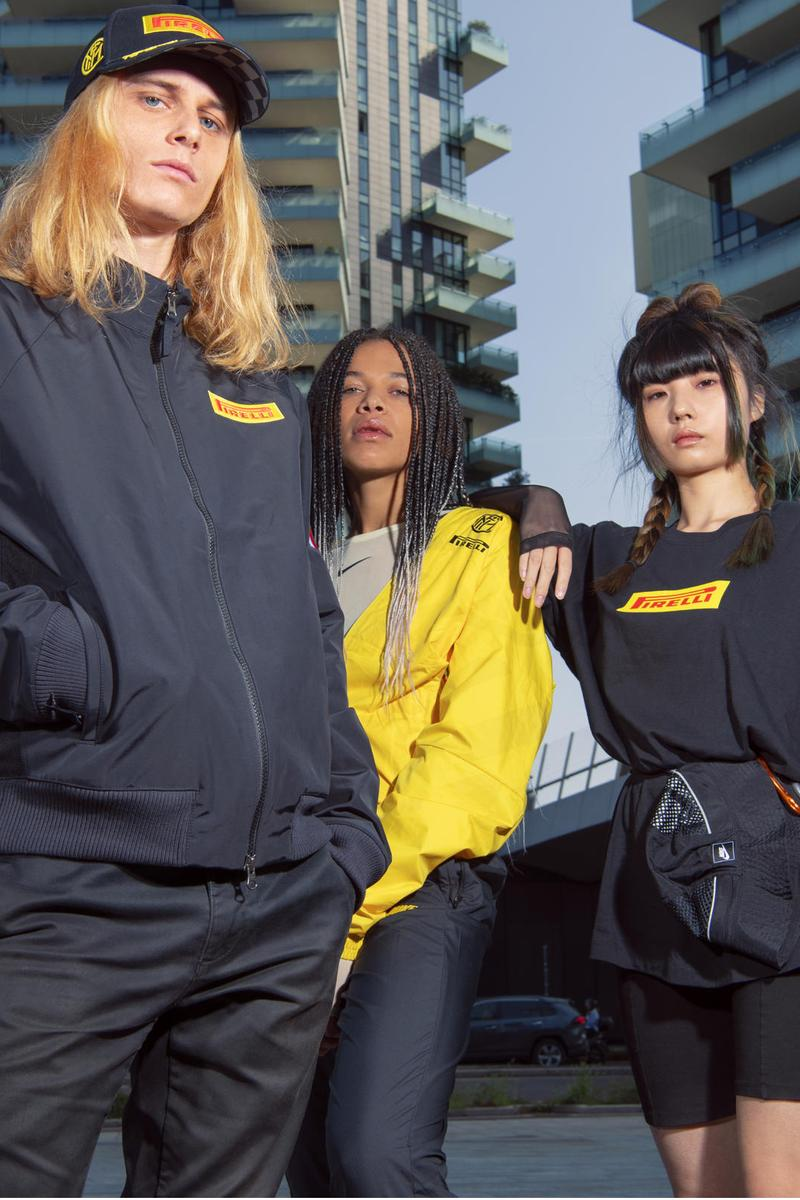 Nike Debuts Inter Milan x Pirelli Racing Collection lookbooks f1 formula one race cars racetracks football soccer collaborations