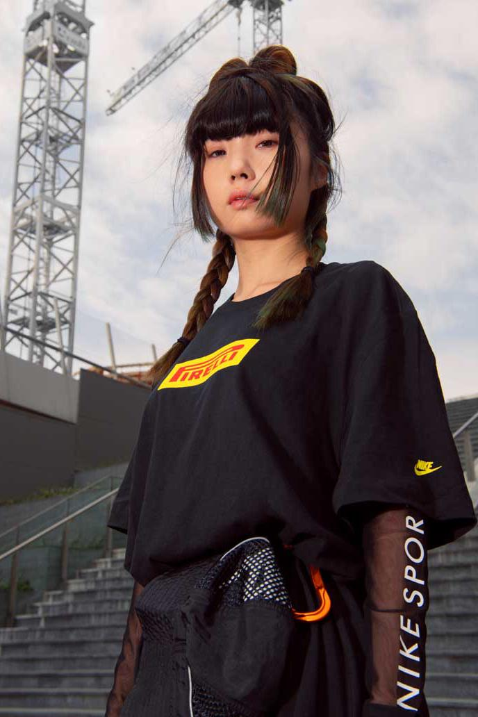 Nike Debuts Inter Milan x Pirelli Racing Collection lookbooks f1 formula one race cars racetracks football soccer collaborations