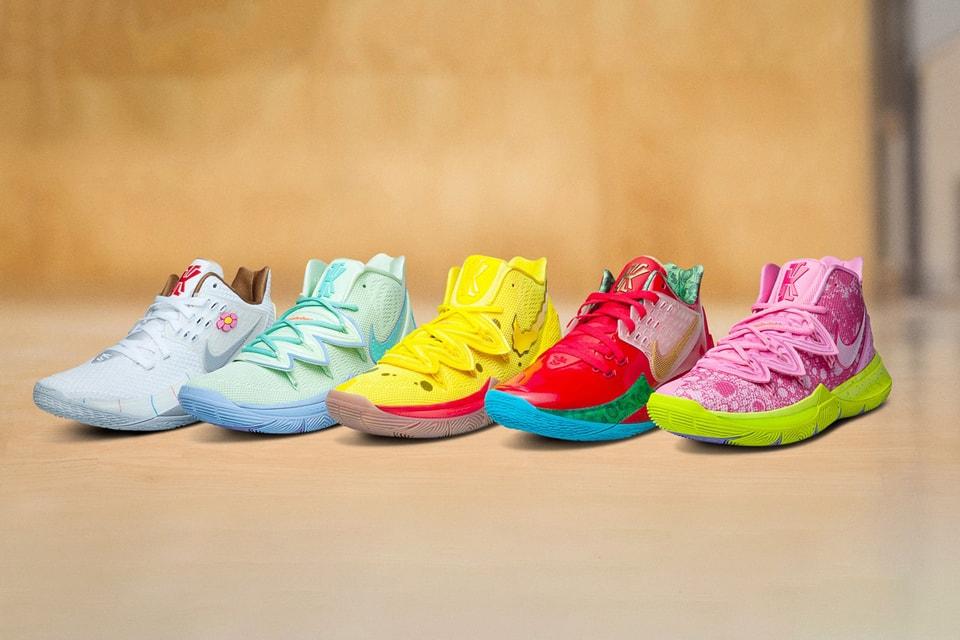 The SpongeBob SquarePants x Nike Kyrie Collection Is Restocking Tomorrow