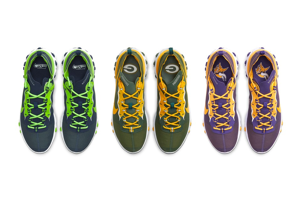 "Nike Releases ""NFL"" Pack for the React Element 55"