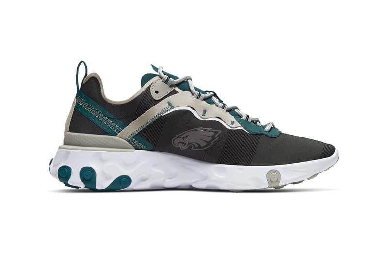 Nike React Element 55 NFL Pack ck4801-400 Release shoes kicks footwear National Football League