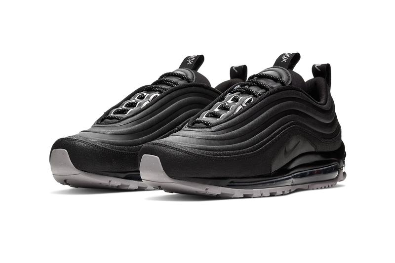 "Nike Air Max 97 ""Utility"" Pack Release Info color ""Sepia Stone/Moon Particle/Total Orange/Racer Blue""  BQ5615-200 ""Black/Grey"" BQ5615-001 drop date price where to cop bubble unit"
